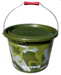 Kbelík Bait- Tech Groundbait Bucket & Lid - Green Camo