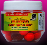 LK BAITS FLUORO POP-UP WILD STRAWBERRY 18mm (ČERVENÁ) + DIP!