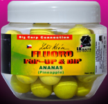 LK BAITS FLUORO POP-UP PINEAPPLE (ŽLUTÁ) + DIP