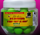 LK BAITS FLUORO POP-UP MUSSEL 18mm (ZELENÁ) + DIP