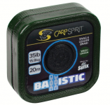 CARP SPIRIT BALLISTIC BRAIDED LEADER CAMO GREEN, 20M, 25LB