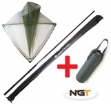 NGT Podběrák Carp Deluxe Carbon 42 with Handle + Plovák Zdarma!
